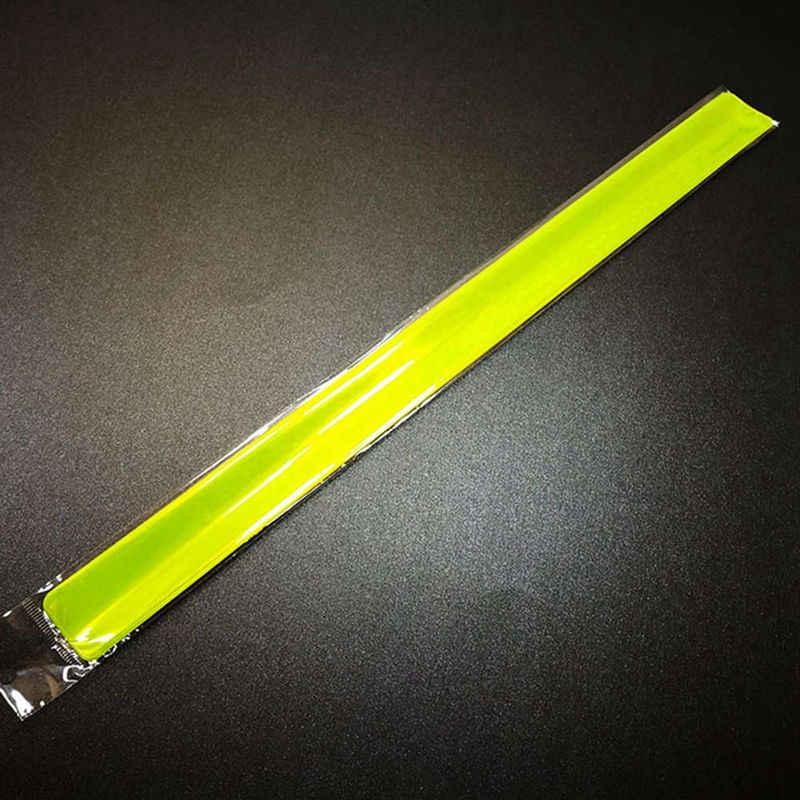 Nova 40 cm Reflexiva Strap Pulseira de Pulso Tornozelo Braço Banda Segurança para Andar Correndo Equitação Equitação Luz Da Noite Verde