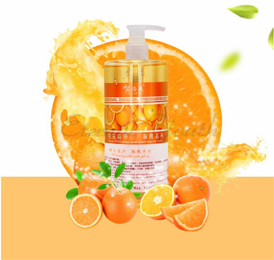 Fresh Orange Flowder Whitening Essence Vitamin C VC Face Serum 500ML Bulk Mask Water