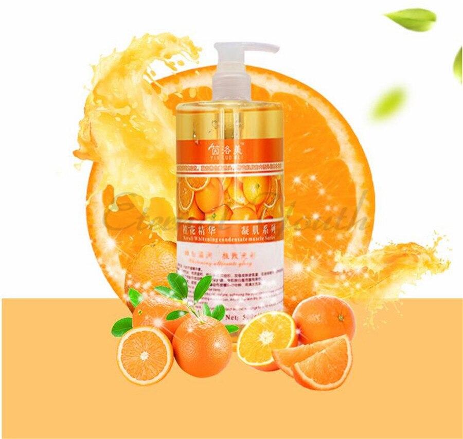 Fleur d'orange fraîche Essence blanchissante vitamine C VC sérum visage 500ML masque en vrac eau