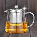 Promotional anti - burst heat - resistant glass flower tea pot, Kung Fu red teapot, with have stainless steel filter pump teapot