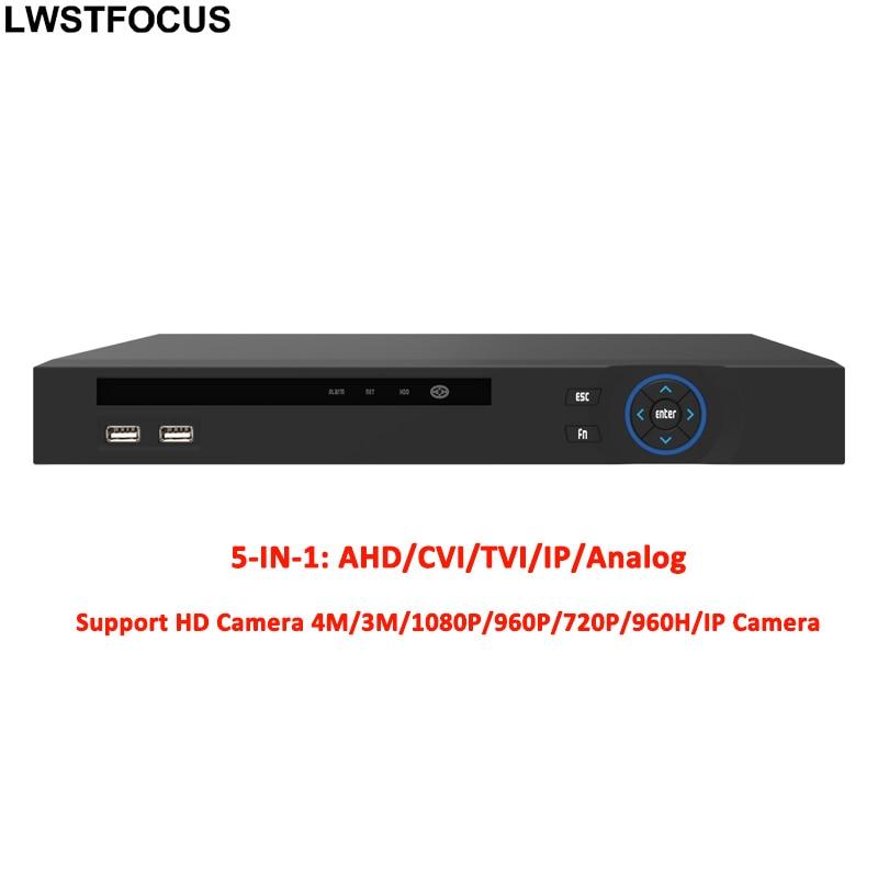 4MP 3MP 5 IN 1 AHD CVI TVI CVBS NVR 4Channel  Security CCTV DVR NVR XVR Hybrid Video Recorder 1080P Onvif Max 12TB P2P View ahd 5mp dvr 1080p 2mp cctv camera surveillance video recorder hybrid 5 in 1 security system ahd dvr support onvif nvr tvi cvi