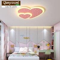 Qiseyuncai современный светодио дный светодиодный потолочный светильник теплый романтический спальня в форме сердца творческий простой розовы