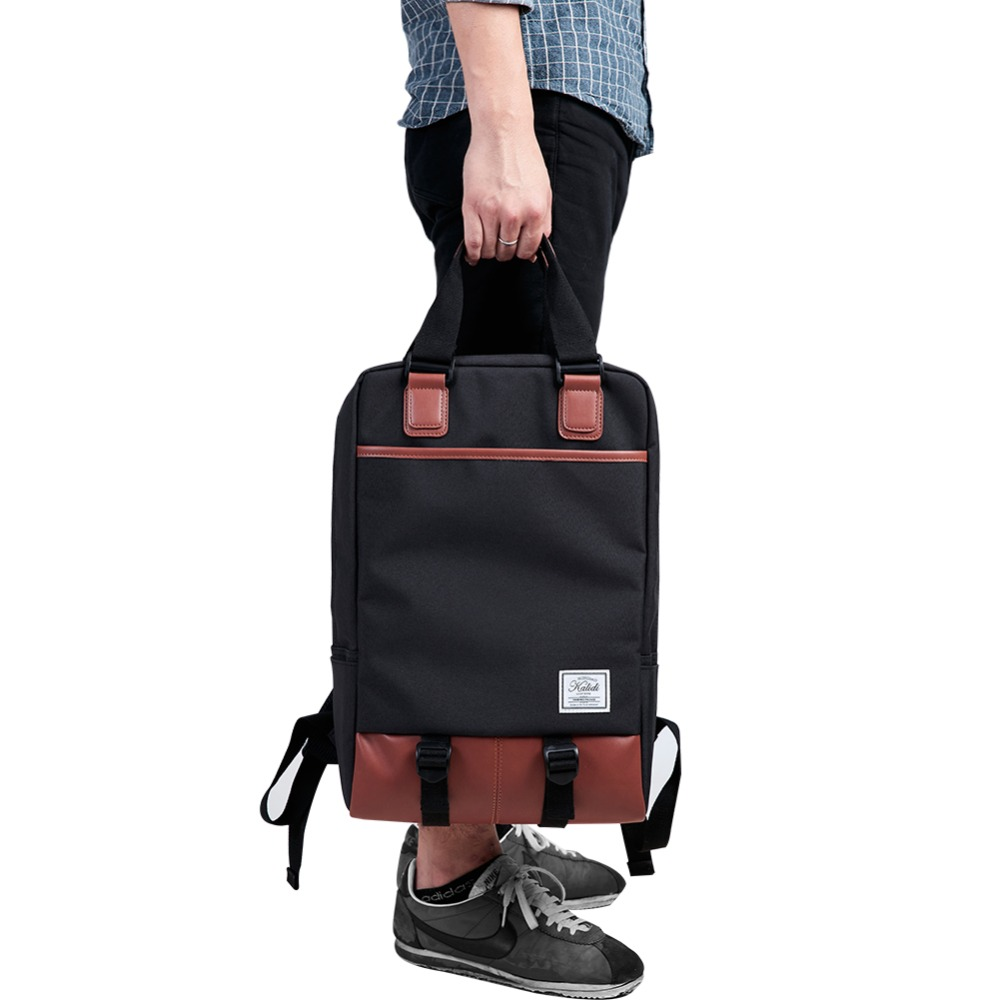 2016 New Arrival KALIDI Rucksack Men's Canvas Backpack 14.1 to 15.6 Inch Laptop Bag Luggage & Women's Travel Daypack School Bags