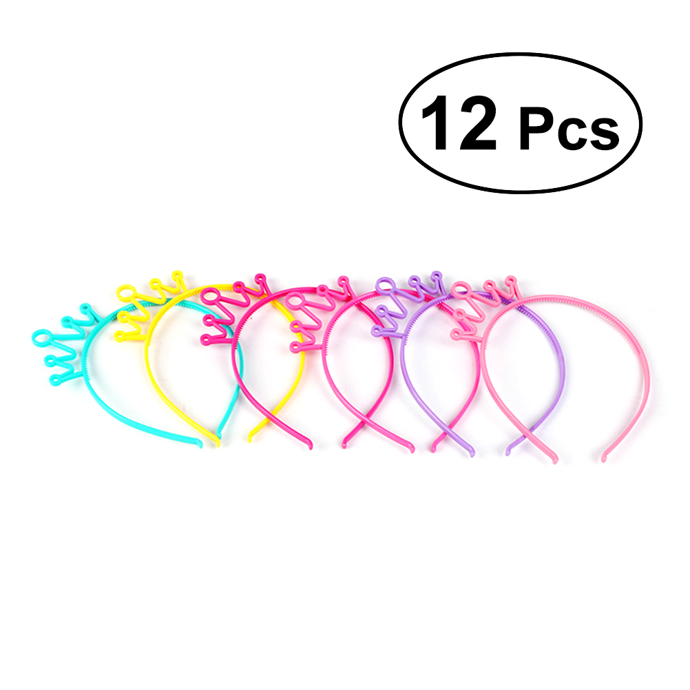Girl's Hair Accessories Energetic 12pcs Funny Cute Crown Headband Novelty Hair Band Headware Party Cosplay Costume For Kids Girls Apparel Accessories