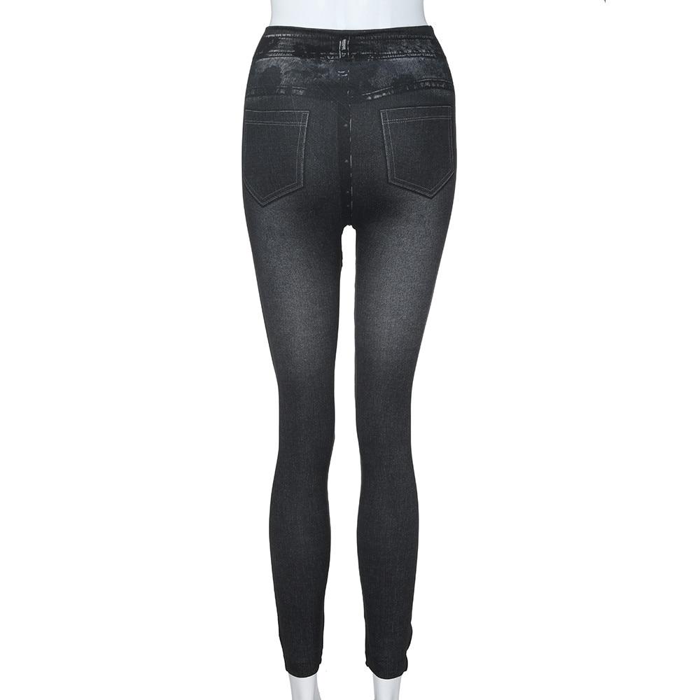 HTB1dKE bjnuK1RkSmFPq6AuzFXaP #40 Women's Leggings Casual Sexy Girls Leggings Pure Black Denim Trousers Pocket Slim Leggings Fitness Large Size Leggings Jeans