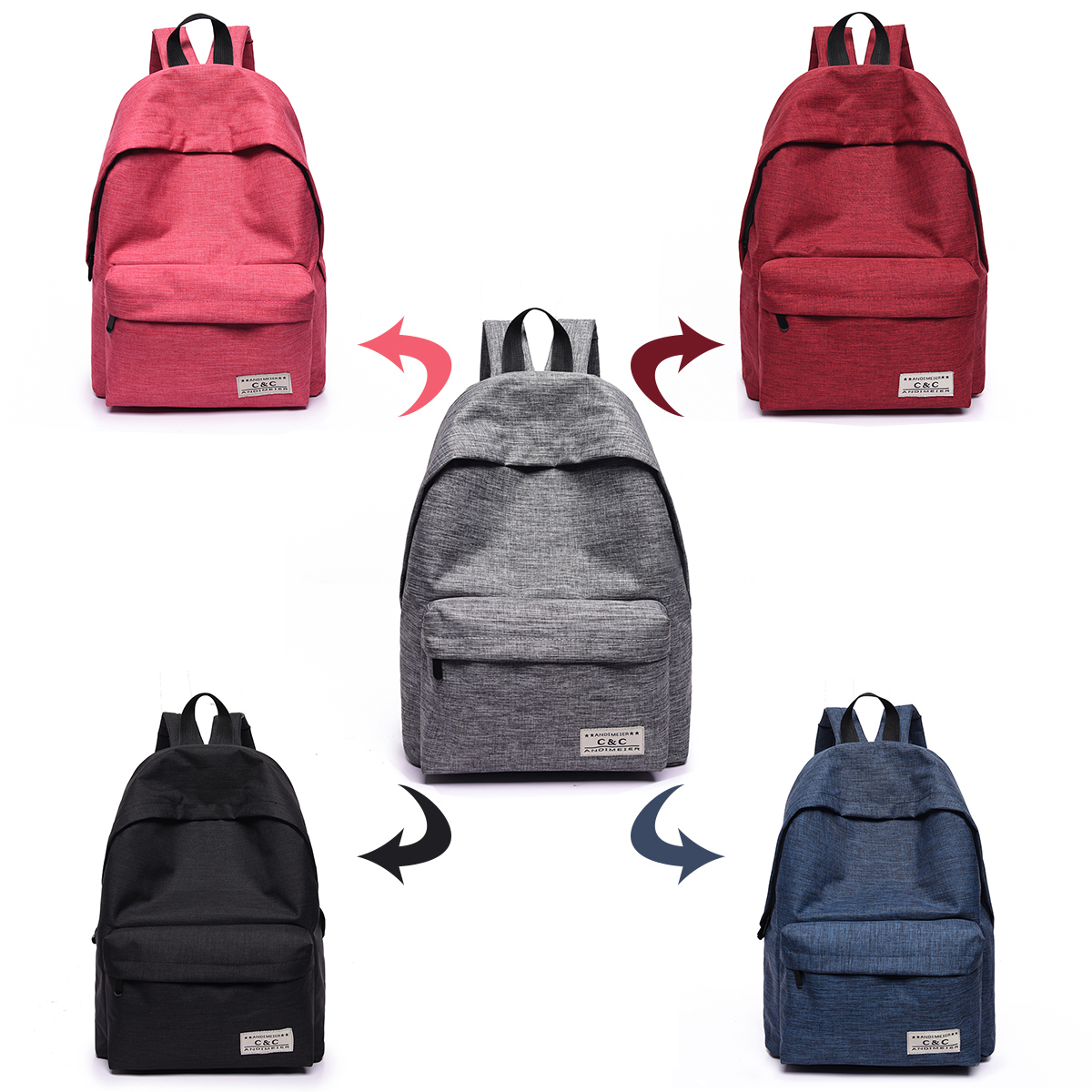 cb226efd15 2017 New Women Canvas Backpacks Fashion Casual Teenager Girls School Bags  Big Backpacks for College Students Mochila Feminina-in Backpacks from  Luggage ...