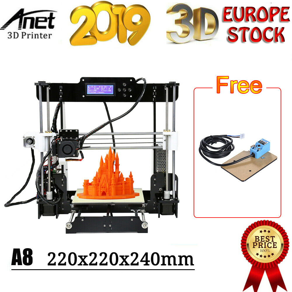 Anet A8 Plus 3D Printer Aluminum Alloy 300*300*350mm Moveable LCD Control Panel