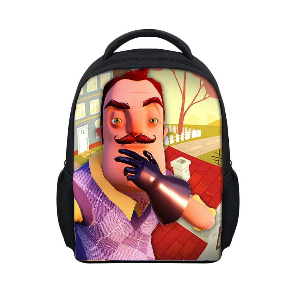 6e0749a2d4 Hot Game Teenagers Baackpack HelloNeighbor Printing Softback School Bag for  Children Boys Casual Daypack Book Bag