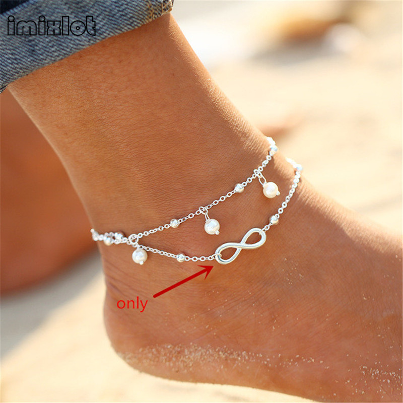 2017 Sandalia Feminina New Barefoot Sandals Enkelbandje Beads Boho Foot Jewelry Beach Anklet Ankle Bracelet Anklets For Women