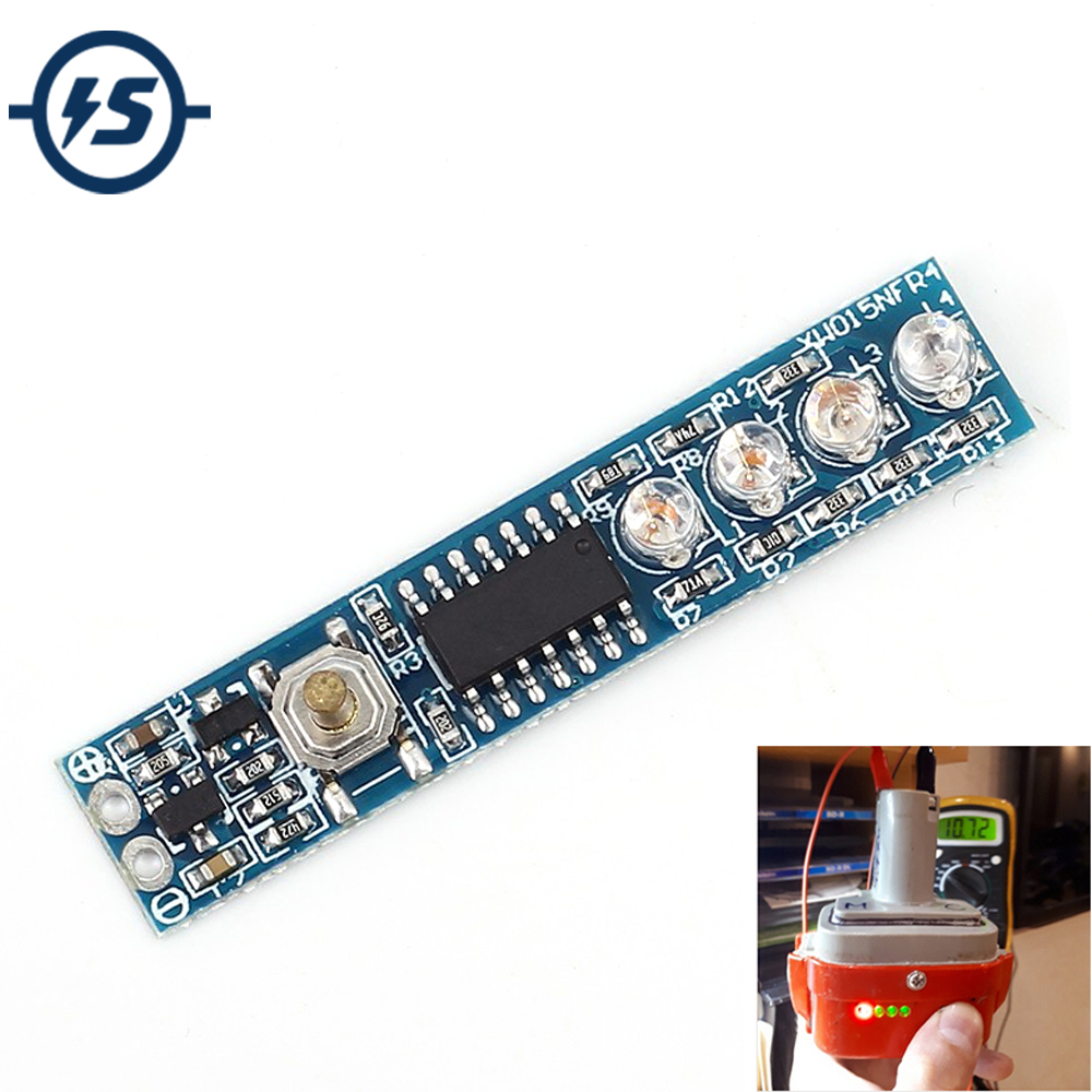 Lithium Battery Capacity Indicator 3 Serial LED Display Board For 3 Pcs Battery Low Static Consumption