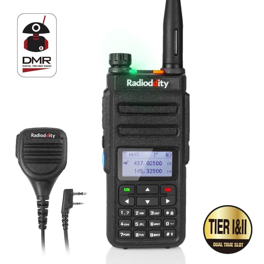 Radioddity GD-77 Dual Band Dual Time Slot Numérique Radio Bidirectionnelle Talkie Walkie Émetteur-Récepteur DMR Motrobo Niveau 1 Niveau 2 + câble Micro