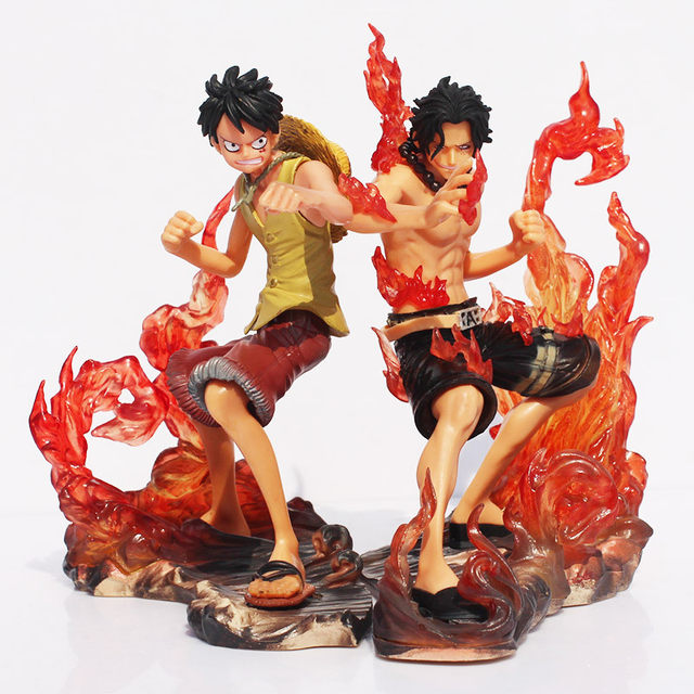 Online Shop 2pcs Set 15cm One Piece Dx Luffy Ace Brotherhood Anime