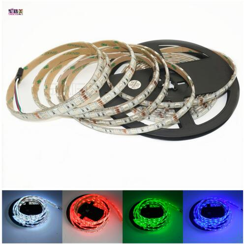 Free shipping 5m 300LED DC12V 5050 <font><b>LED</b></font> strip <font><b>12V</b></font> 60leds/m tape Red/Blue/Green/Yellow/White/<font><b>UV</b></font>/Pink/RGB IP30/IP65 waterproof lamp image