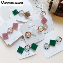 Colorful Crystal Hairpins For Women Girls Geometry Metal Hairgrips  Bangs Clip Barrettes Fashion Hair Clips Accessories