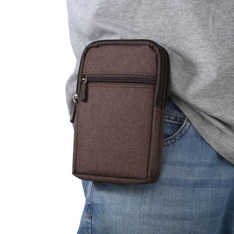 Nuevo Cowboy Cloth Phone Pouch Belt Clip Bag para Samsung S7 S6 Edge S5 S4 S3 Note 7 5 4 3 con bolígrafo Riñonera para Xiaomi