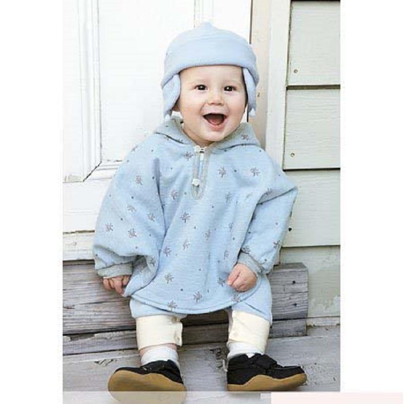 Hooyi Baby Boys Bluzy z kapturem kurtki Noworodek Płaszcz niemowlęcy Poncho Smock Ubrania dla dzieci Dwustronny płaszcz Kurtki dla dziewczynek Odzież wierzchnia Polar