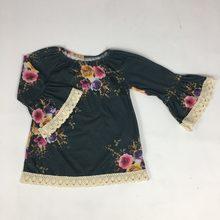Puresun Primavera Roupa Da Criança Da Menina do Estilo Vestidos de Design de Moda de Algodão Floral Vestido de Princesa Traje Crianças Roupas de Remake