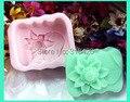 Nicole R0085 3D flower design suave slicone gel molde sabão