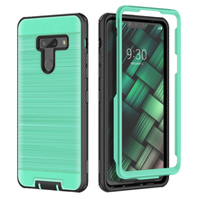Protect 2 in 1 Hard Case For LG G8 ThinQ PC Silicone Brushed Texture Shockproof Protective Coque Cover V50 5G