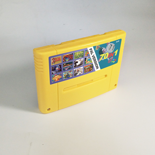 70 In 1 EUR PAL Version Battery Save Game Cartridge ActRaiser Chrono Trigger Biker Mice From Mars Donkey Country Kong Earthbound