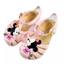 kids shoes 2017 New Mini Melissa Mickey Sandals Jelly Crystal Children Shoes Mickey Minnie Girls Slippers