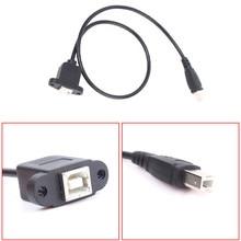 USB 2.0 Loại B Nam để Nữ M/F Dữ Liệu MỞ RỘNG Cable Chỉnh Núi Cho Máy In với Vít lỗ 0.3 m/1FT