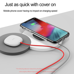Image 5 - Baseus Suction Wireless Charger For iPhone X Xs Max XR Samsung Note 9 S9 Wireless Charging Design For Gaming built in Cable