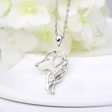 Dog Pendant Silver Necklace