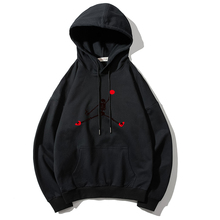 2019 Fashion Flying Man Print Black Mens Sweatshirt Women Hoodies Pullover 100% Cotton Long Sleeve Couple Men Clothes