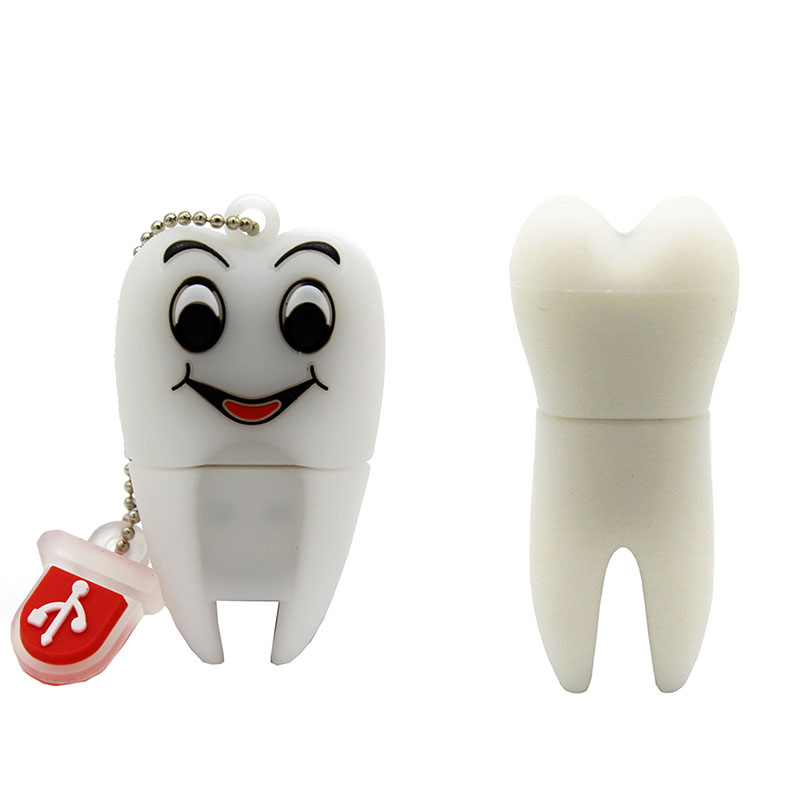 TEXT ME Cartoon  64GB  Cute Tooth USB Personality  Flash Drive 4GB 8GB 16GB 32GB Pendrive USB 2.0 Usb Stick