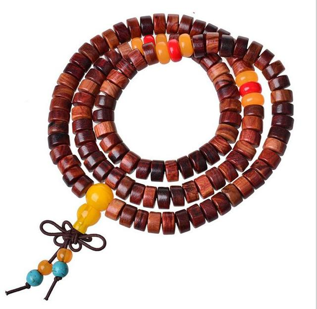 Boutique Liu Jacarandá pulseiras oração pulseira de miçangas contas barril padrão careta bonita acabamento meticuloso