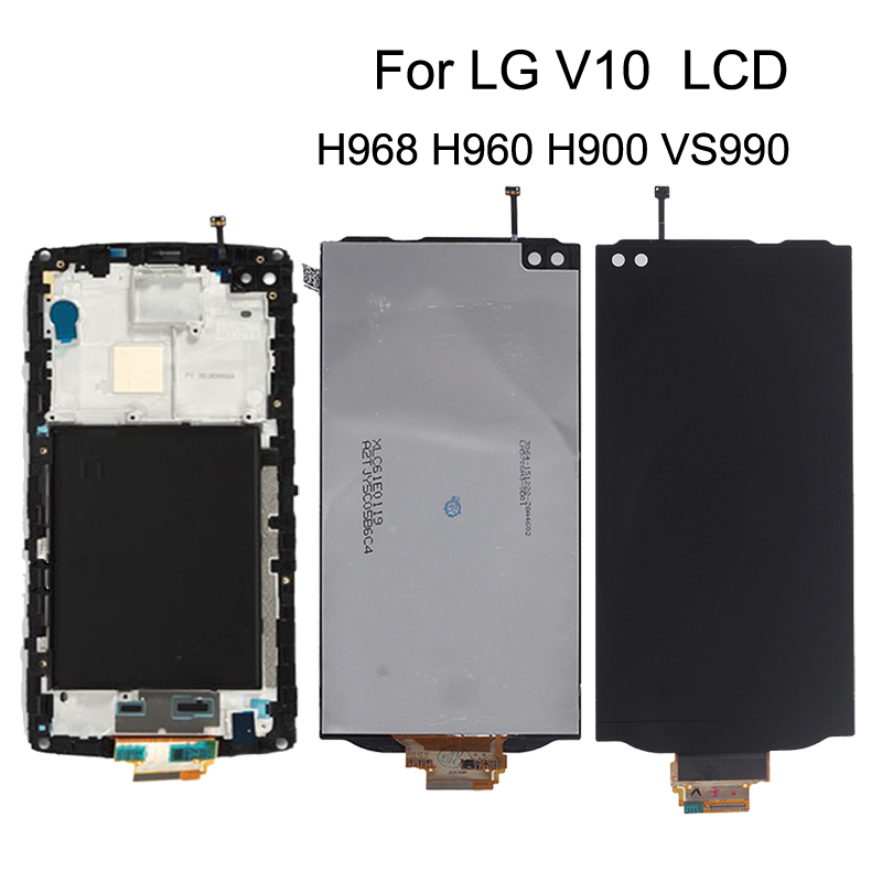 5.7'' Original For <font><b>LG</b></font> <font><b>V10</b></font> LCD <font><b>Display</b></font> Touch Screen Digitizer replacement H968 H960 H900 VS990 Touch Panel Phone Parts With Frame image