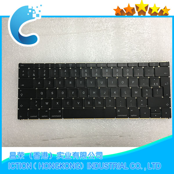Original New A1534 Keyboard 2015 for MacBook Retina 12 A1534 FR French Keyboard AZERTY MF855 MF865 EMC2746 2015 year topcase apple new macbook 12 chevron series keyboard cover silicone skin for macbook 12 inch with retina display model a1534 newest version 2015