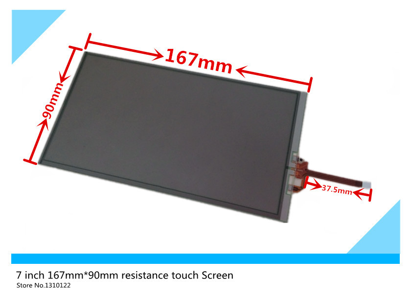 7 inch 167mm*90mm Touch Screen glass Digitizer touchscreen Replacement for Car central instrument DVD video GPS navigation