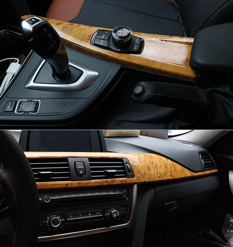 3 M haute brillance bois Grain vinyle autocollant autocollant rouleau voiture intérieur bricolage pellicule de film largeur: 49''