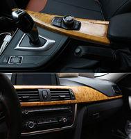 3M High Glossy Wood Grain Vinyl Sticker Decal Roll Car Interior DIY Film Wrap Width: 49''