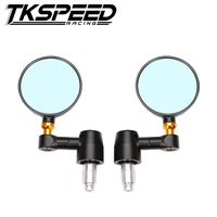 FREE SHIPPING TKSPEED Brand New Spy R80 Bar End Motorcycle Rear Side Mirror For Honda Yamaha