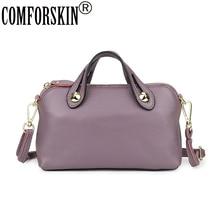 COMFORSKIN European And American Women Handbags Luxurious Cowhide Leather Practical Messenger Bags New Arrivals Top-handle