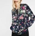 New 2016 Za Fashion Women Long Sleeve Bomber Jacket Casual Vintage Ladies Slim Print Coat Campera Mujer