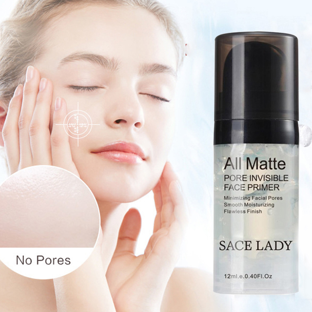 SACE LADY 12ml Hydrating Face Base Primer Makeup Liquid Smooth Fine Lines Oil-control Brighten Foundation Facial Cream Cosmetic