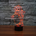 3D Pumpkin Man Night Light Optical Illusion Visual Desk Table Lamps with Amazing Touch Sensitive Switch for Kids Christmas Gifts