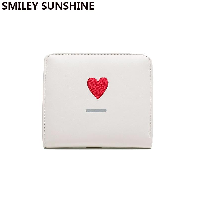 SMILEY SUNSHINE Lady hasp short clutch slim wallet solid cute emoji women wallet fashion small female purse mini money purse bag short smiley