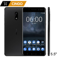 Original Nokia 6 LTE Mobile Phone ROM 32 64G RAM 4G 5 5inch Android 7 0
