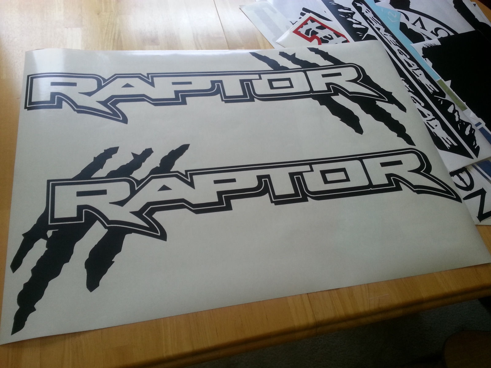 For 1set 2pcs 1pair Ford Raptor Truck Side Bed Lettering