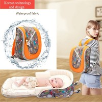 Portable Baby crib Nestbed kids Diaper Bag mommy Maternity Nappy Bag Large Capacity Baby Nursing Bag Travel Bed Infant carrycot
