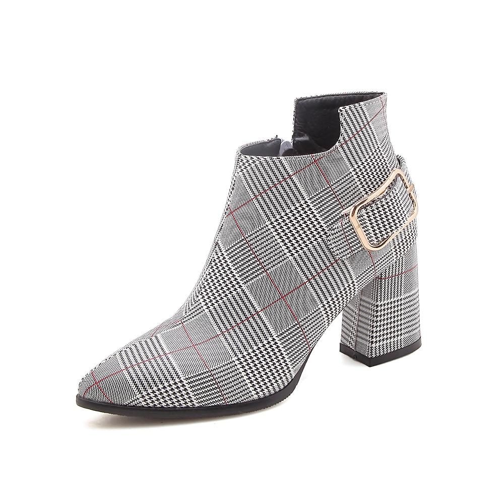sapatos femininos sexy outono inverno ankle boots feminino n245