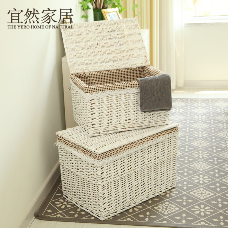 A Large Storage Box Lid Rattan Finishing Drawer Clothes Clothing Craza Home Furnishing Willow Bana In Bo Bins From