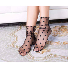 Sexy Women Chic Thin Transparent Punk Socks Solid Vintage Fish Short Fashion Hollow Out Low Socks chic faux zircon hollow out palm foot bracelet