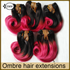 Cheap Brazilian Virgin Hair Body Wave Human Hair Weaving Short Hairtyle For Women Ombre Color Extensions Natural Black Rose Red