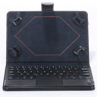 Factory Price Universal 8 9 Inch Bluetooth Keyboard Leather Stand Case For PC Tablet Free Shipping